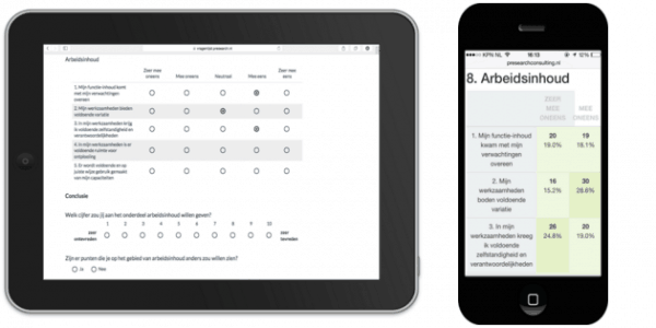 Questionnaire employees satisfaction Survey on ipad and iphone
